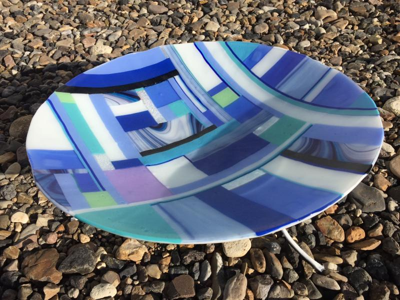 21 inch fused glass bowl
