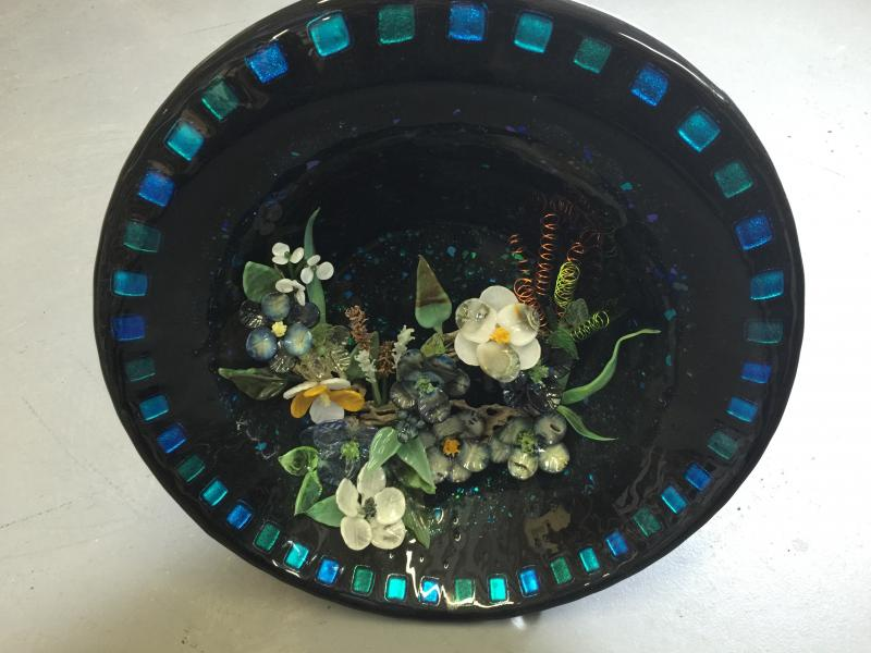 22 inch floral bowl